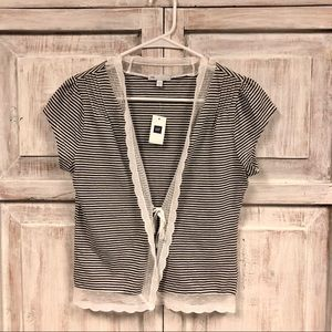 GAP Striped Tie-Front Top